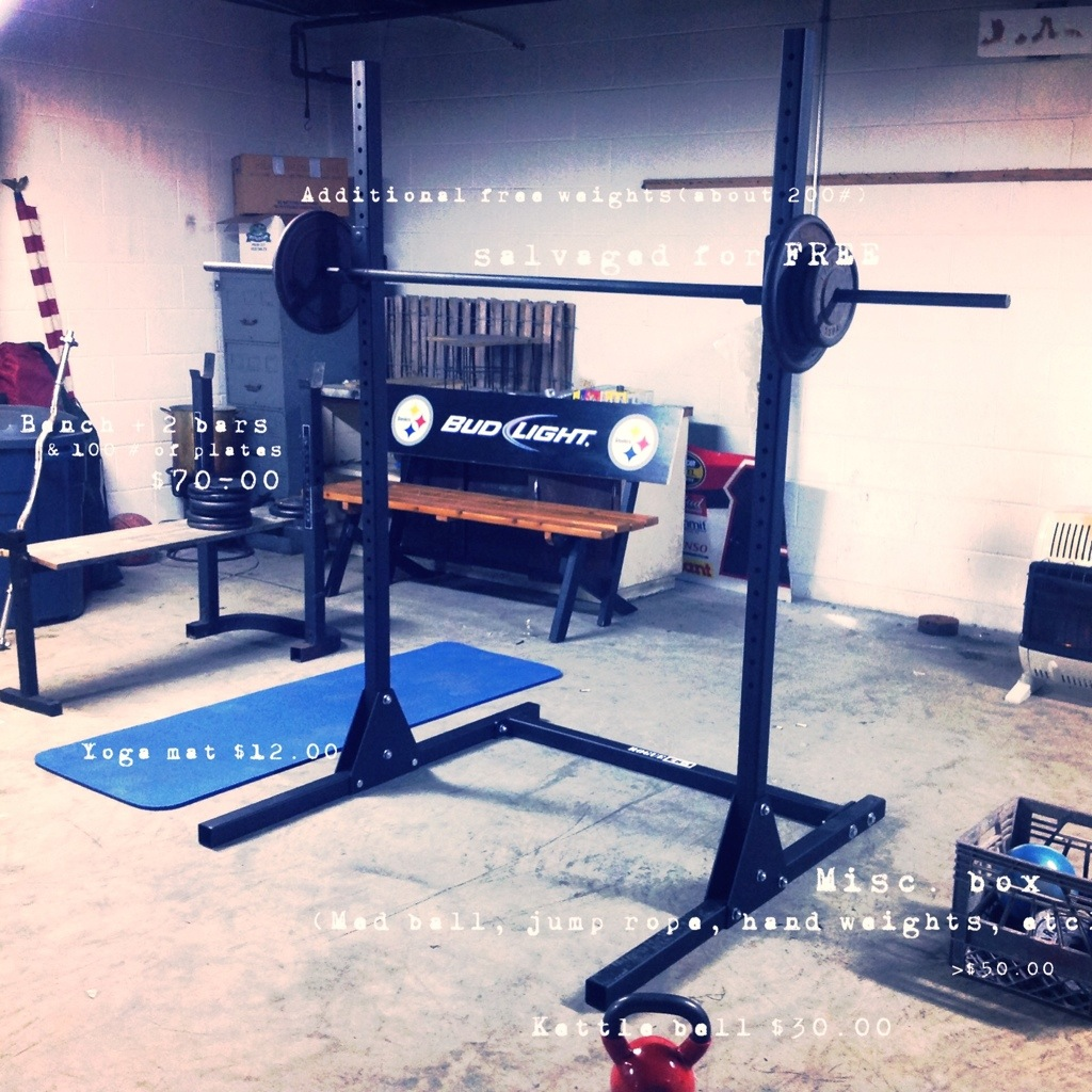 Constructing a home gym on the cheap raising those bars